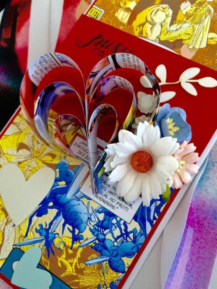 Komiksová svatební gratulace, přání / comic wedding card  #crazycatcz #svatba #komiks #svatebnígratulace #svatebnípřání #přání #comicwedding #weddingcard #card