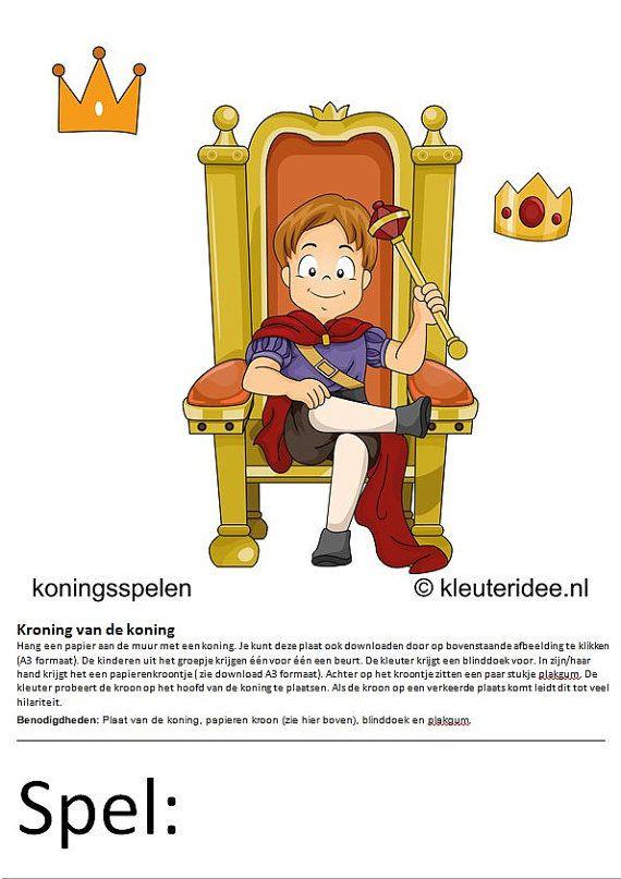 15 Koningsspelen voor kleuters.  Leerkrachten maken al zoveel uren. Daarom hier een heel pakket kant en klare koningsspelen voor kleuters. Er zijn 15