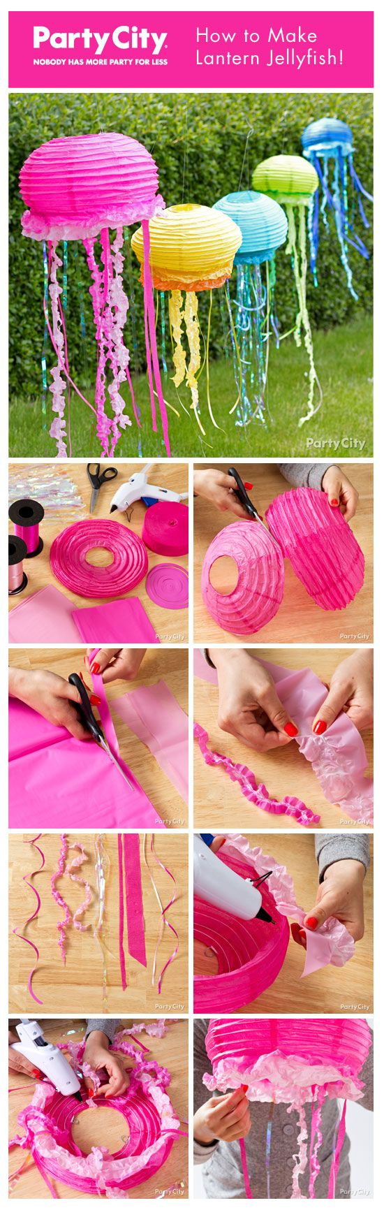 top ideas about party time bubble guppies nick lantern jellyfish hanging jellyfish jellyfish paper jellyfish crafts vbs2016 beachparty ocean themes beach themes beach party theme for kids