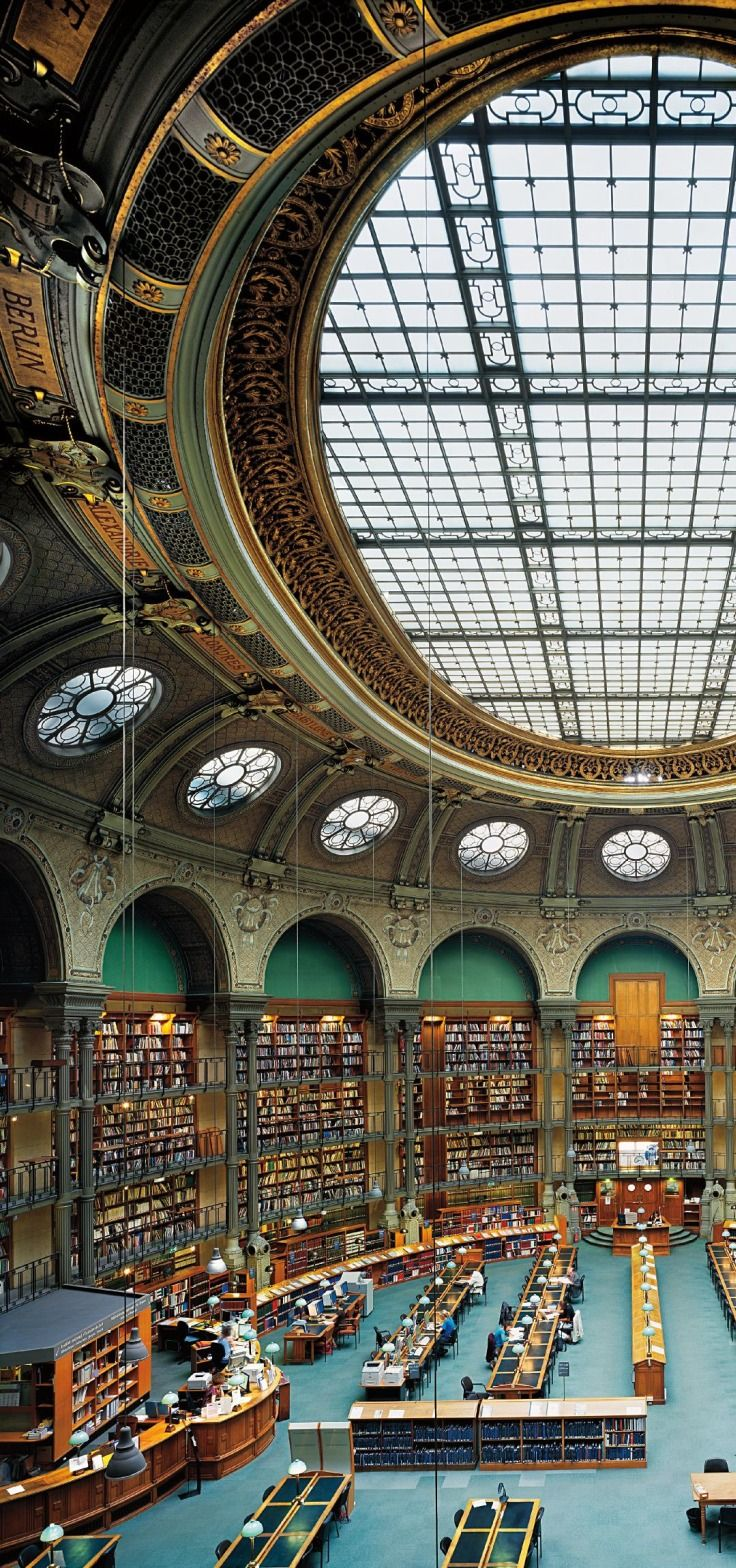 LA BIBLIOTHÈQUE NATIONALE PARIS~ The Oval Room, the reading room of The National Library of France - Paris