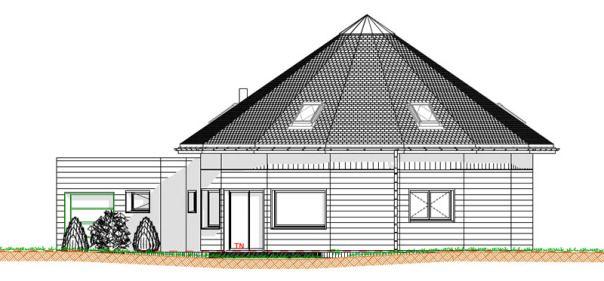 Plan de maison facade d 39 une maison ronde for Le plan d une maison