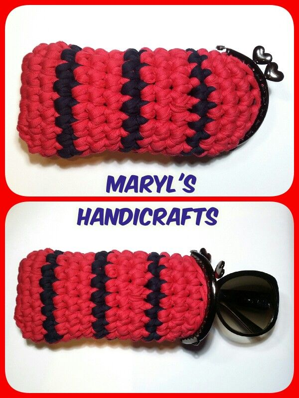 Crochet case for sunglasses. Find it on Facebook : MaryL's Handicrafts  Χειροτεχνήματα - Μαίρη