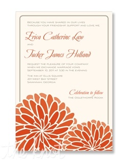 Catoctin mountains wedding invitations