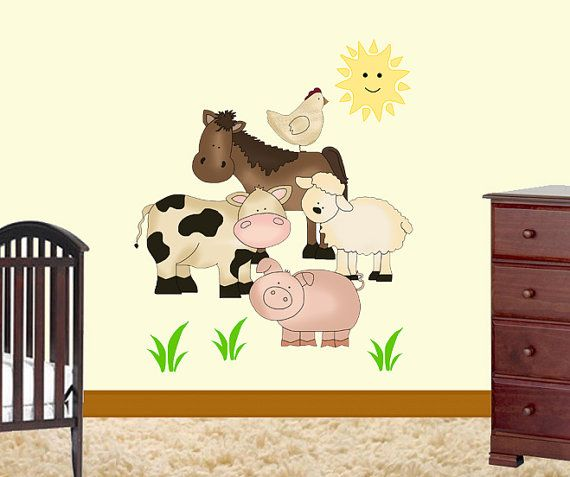 Best Everythings Groovy Images On Pinterest - Barnyard nursery wall decals