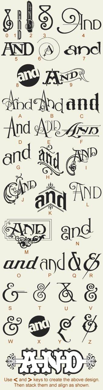 More typefaces...