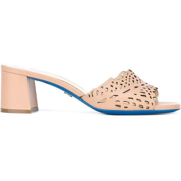 Loriblu Heeled Sandals (15,485 INR) ❤ liked on Polyvore featuring shoes, sandals, loriblu, nude heeled sandals, nude shoes, nude sandals and heeled sandals