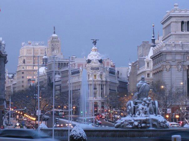 Gorgeous view of Madrid, Spain.