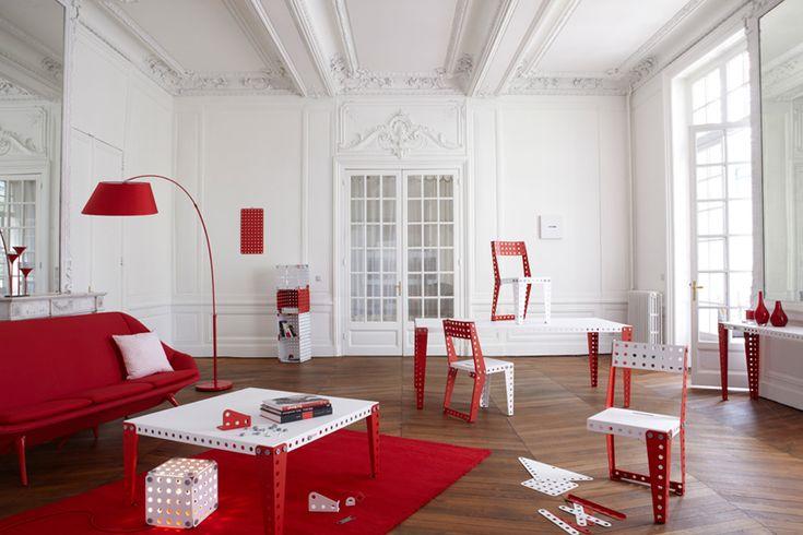módulos metálicos casa meccano evolución muebles designboom