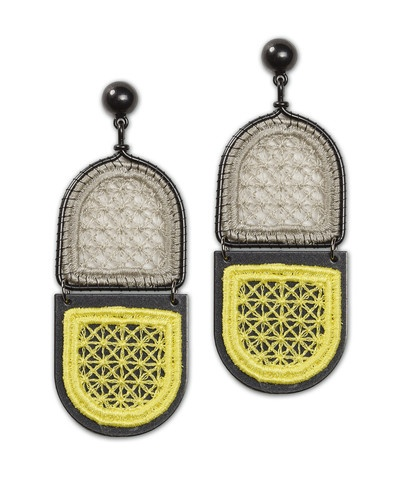 Abstract Window Lace Earring - Color-blocking