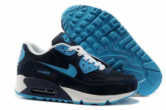 air max 90 leather homme bleu