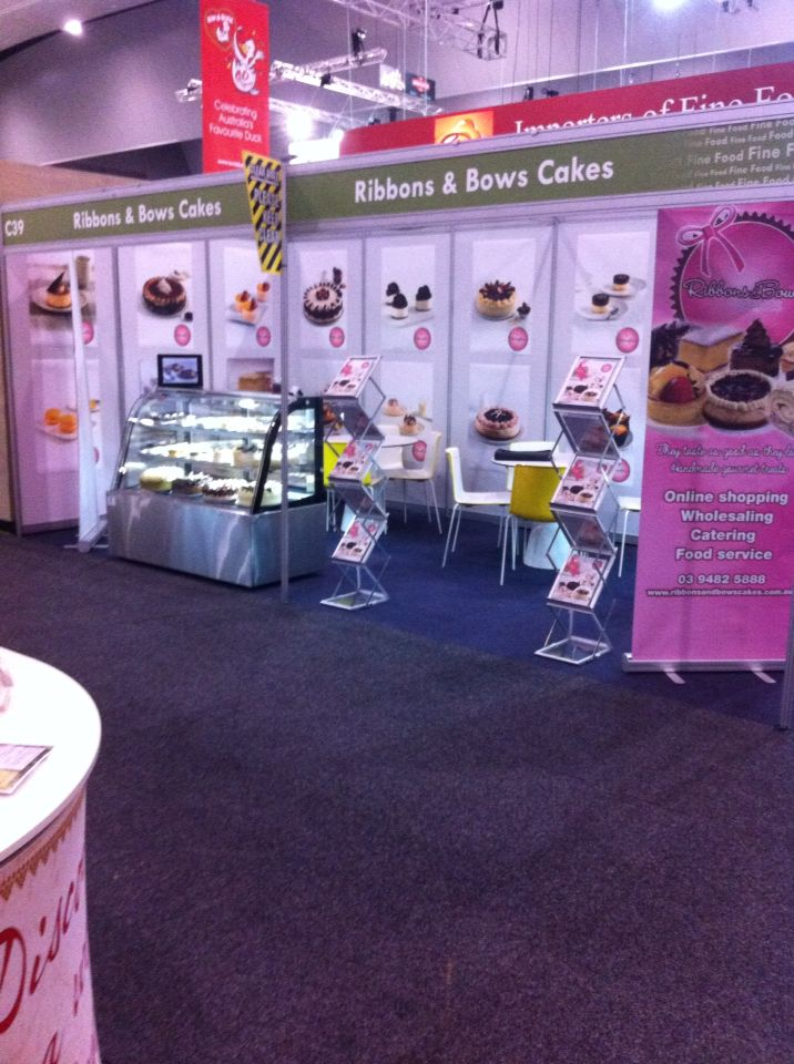 Showcasing our products range at the fine food show 2014!