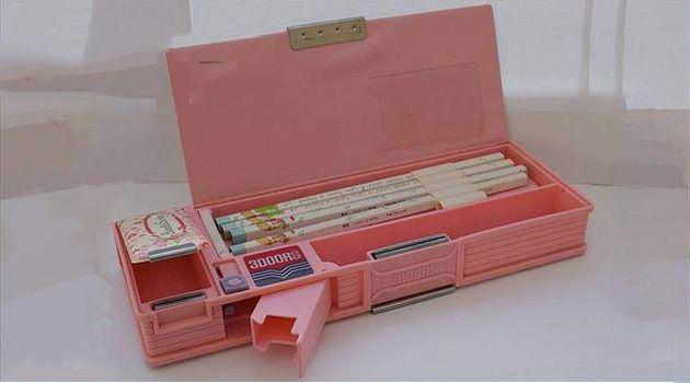 Típico estuche rosa años 90