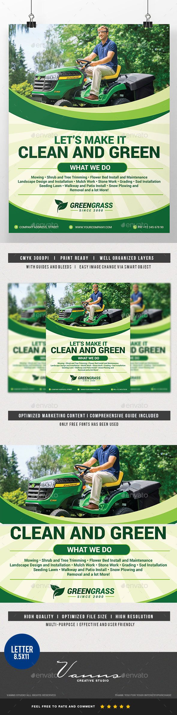 Reliable lawn care and mowing services at competitive prices - Mowing Service Flyer