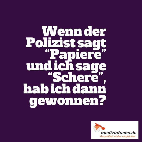 Haha :) #Polizei #Papiere #Schere #Auto #Fahren #Führerschein #Ordnung…