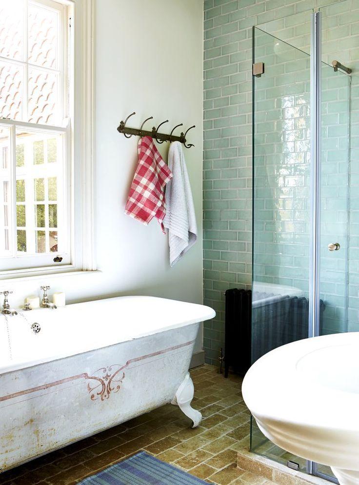 Web Image Gallery Inside interior designer Paula Barnes beautiful bathroom Reclaimed encaustic tiles that Paula sells on her