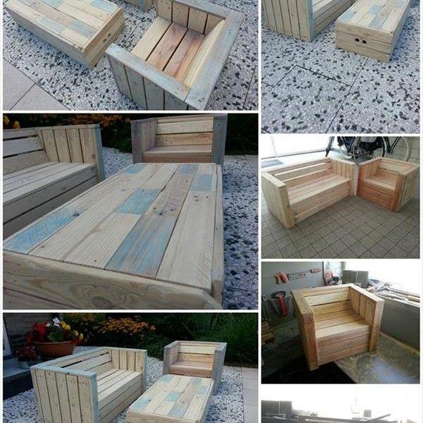 pallet patio furniture designs