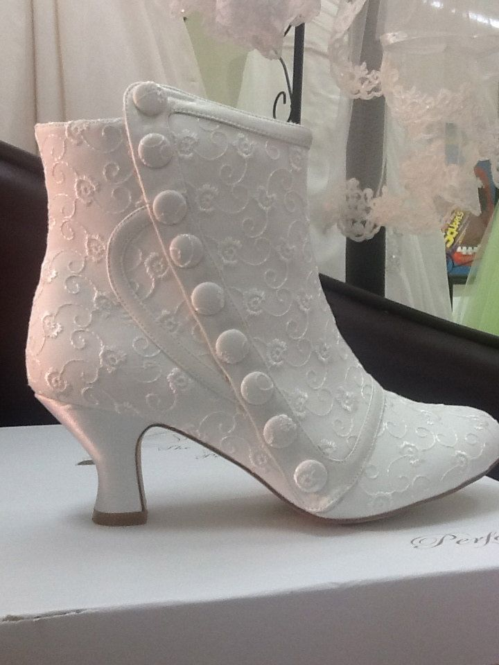 these look like the other boots. Ivory Bridal Wedding Boots by SugarandSpiceUK on Etsy, £100.00