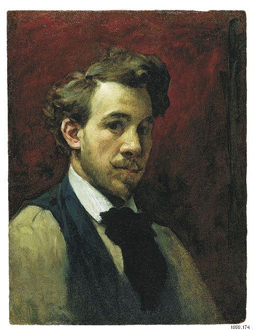 """Marc-Aurèle de Foy Suzor-Coté, """"Autoportrait"""", 1896 ou 1897. Huile sur panneau de bois, 30 x 23 cm. Collection MNBAQ."""