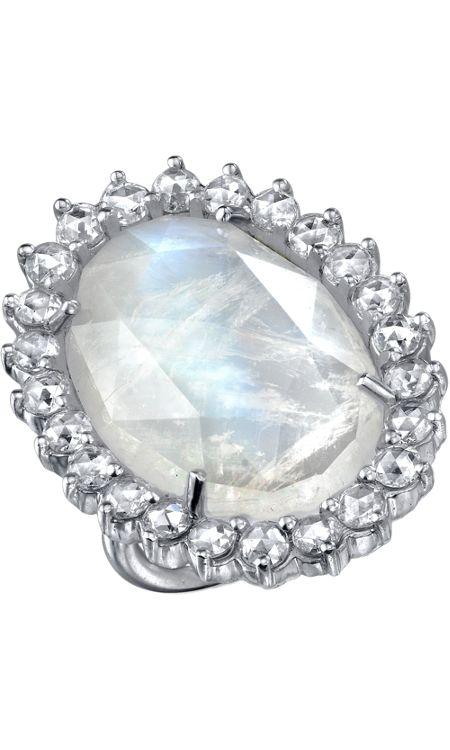 Irene Neuwirth rainbow moonstone & diamond ring
