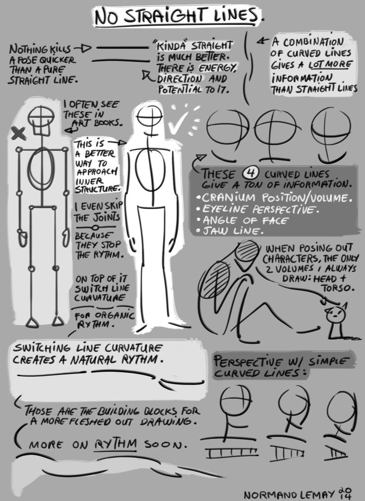 grizandnorm: Tuesday Tips SUPER WEEK - No Straight LinesCurved lines > Straight lines. That's it.Norm #Drawingtips