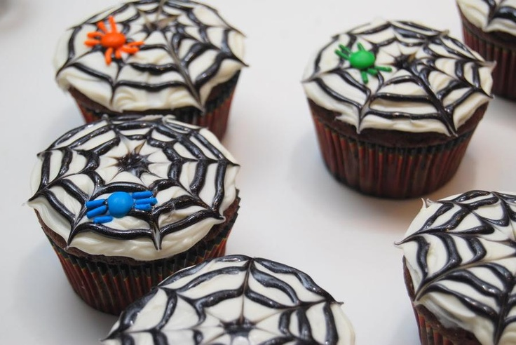 Spider cupcakes: Cupcake Rosa-Choqu, Spiderweb Cupcake, Food Ideas, Baking Ideas, Cooking, Halloween Food, Holloween Cupcake Ideas, Cups Cakes, Spiders Cupcake