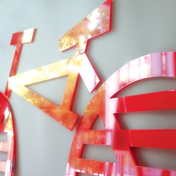 items similar to bike acrylic wall decor kids decor on etsy - Red Kids Room Decor