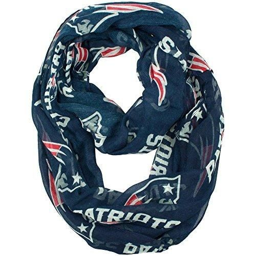 Nfl Patriots Scarf 70 X 25 Football Themed Woman Accessory Sports Patterned Team Logo Fan Merchandise Athletic Team Spirit Fan Blue Red Silver White Polyester
