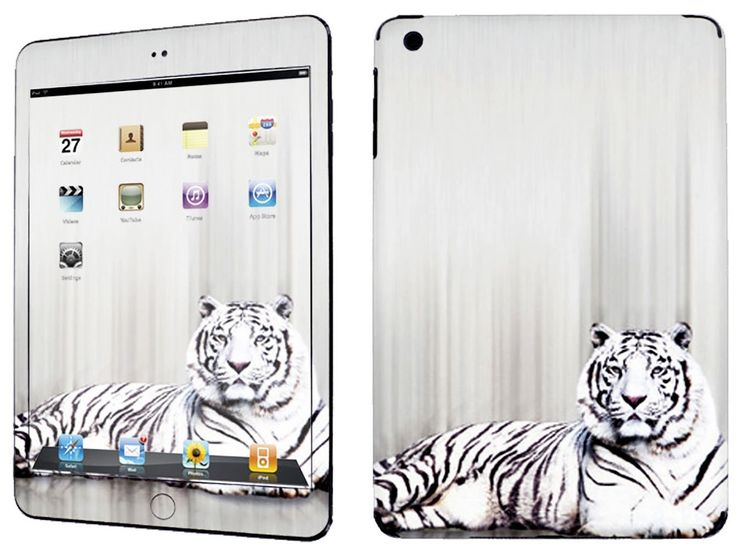 Amazon.com: Arctic White and Black {Siberian Tiger} Front and Back Full Body Adhesive Vinyl Decal Sticker for iPad Mini 1st Generation Models A1432, A1454 and A1455 (No Air Bubbles - Removable Residue Free Skin}: Computers & Accessories