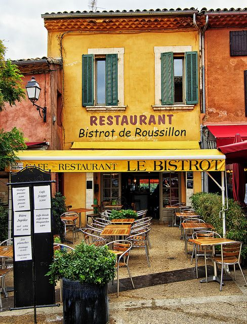 Le Bistrot de Roussillon by philhaber on Flickr. The restaurant Le Bistrot, in Roussillon, Provence, France