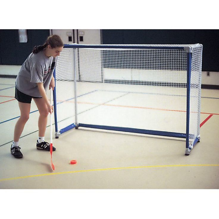 Economy 4 x 6 ft. Floor Street/Roller Hockey Goals with Nets - Set of 2 - EFLG46