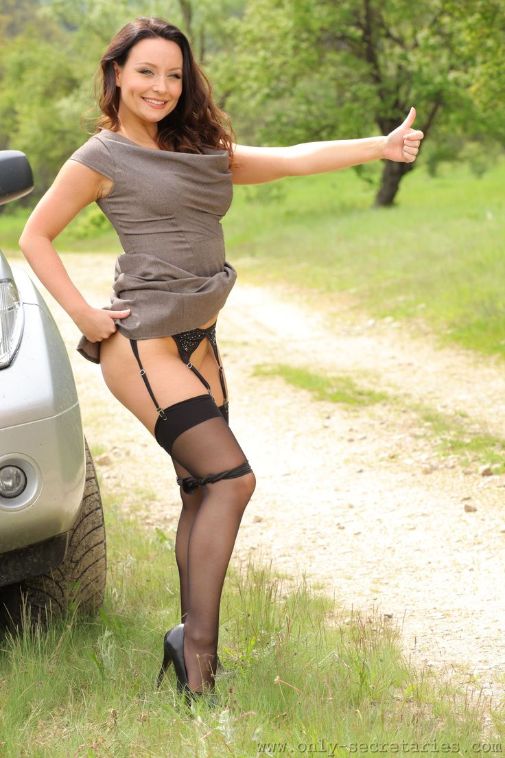 My wife in stockings and suspenders