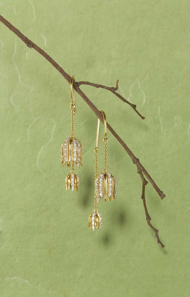 tanishq zyra jewellery collection -  Sui Thaga earrings  Google Search