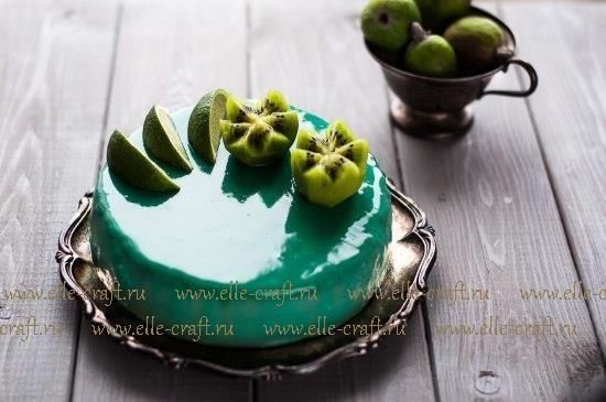 Пальчики оближешь... Муссовый торт с лаймовым бисквитом, фейхоа и киви   elle-craft — творчество со вкусом!