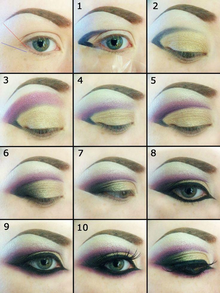 Purple Gold Eyeshadow Tutorial  http://www.heartmoda.com/makeup/purple-golden-eyeshadow-tutorial/