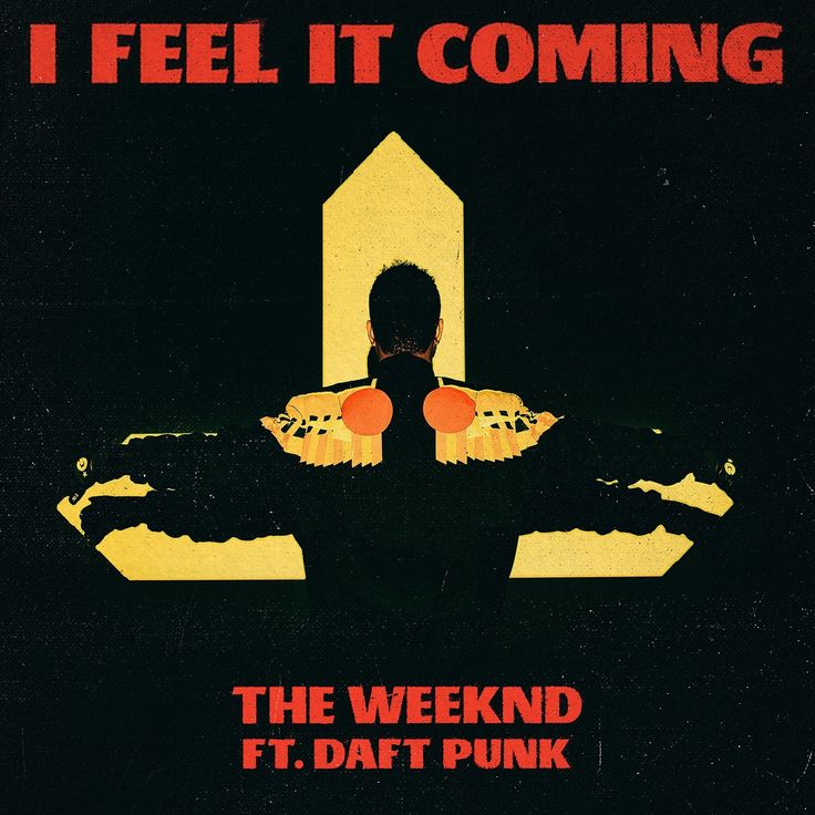 "Artwork for The Weeknd's new single ""I Feel It Coming"""