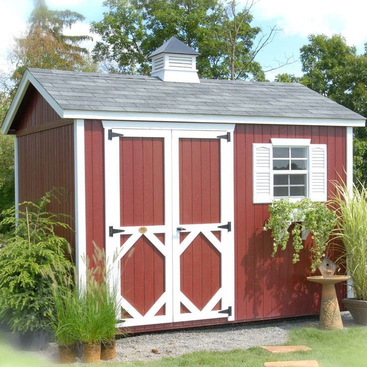 little cottage company 8 ft w x 10 ft d wood garden shed