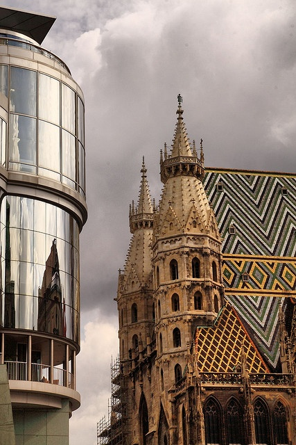 Old and New together in Vienna, Austria: