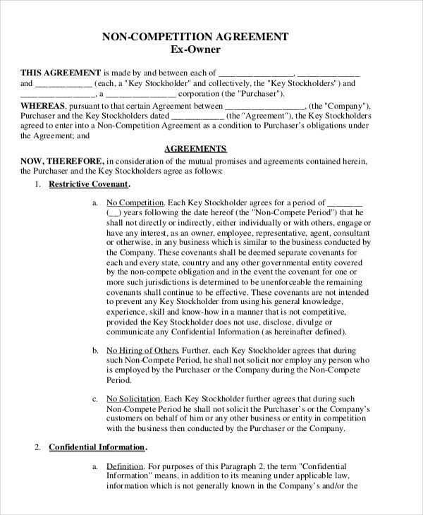 Non Compete Agreement Template Luxury 15 Simple Non Pete Agreement Templates Free Word Of 30 Business Template Templates Free Design Templates