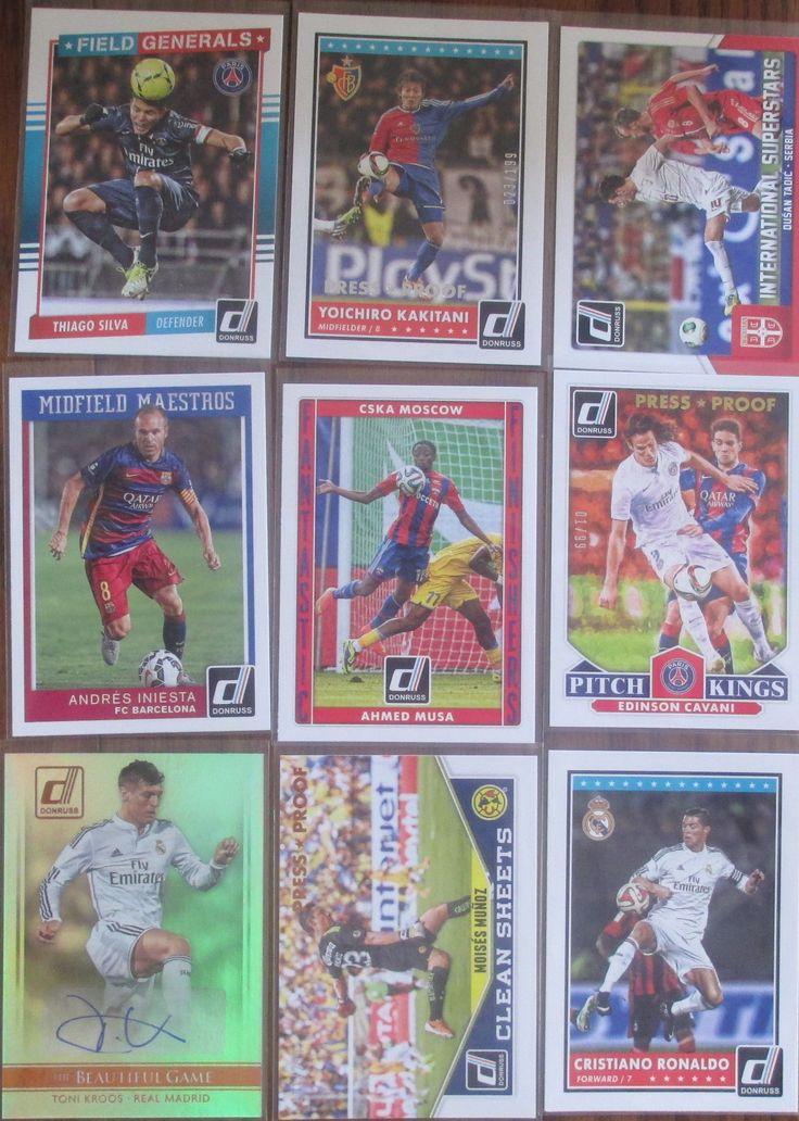 2015 donruss soccer iniesta baseball cards sports cards