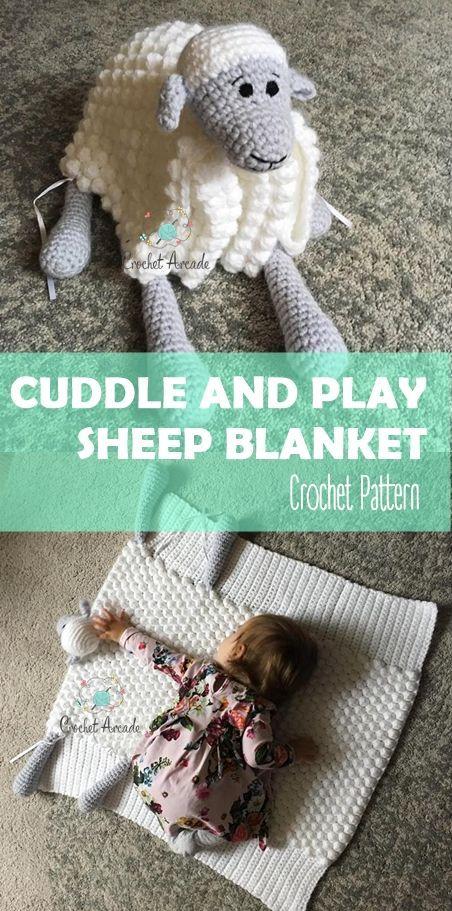 Cuddle and Play Sheep Baby Blanket Crochet Pattern | yastık ...