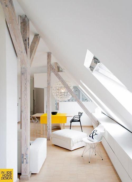 slanted ceiling(viahomedesigning)