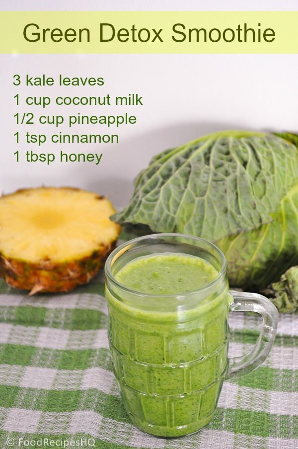 Quick Green Detox Smoothie for a Healthier Breakfast! #healthy #breakfast