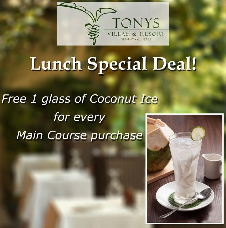 Enjoy your day and get special deal at Orchid Restaurant - Tonys Villas. Order your favorite menu right now..!!  #bali #tonysvilla #seminyak #breakfast #holiday #honeymoon #privatevilla #balimagic #restaurant www.balitonys.com