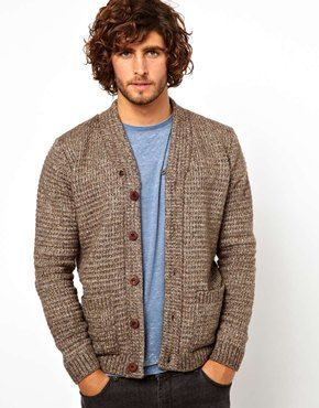 Pinning this for the spot-on hairstyle and facial hair as well as for the cardigan.