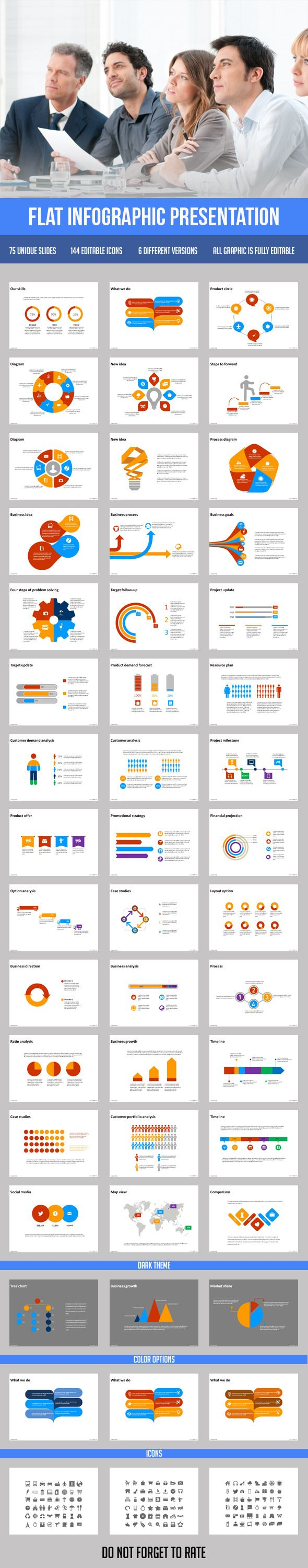 Flat Infographic Presentation - Business PowerPoint Templates