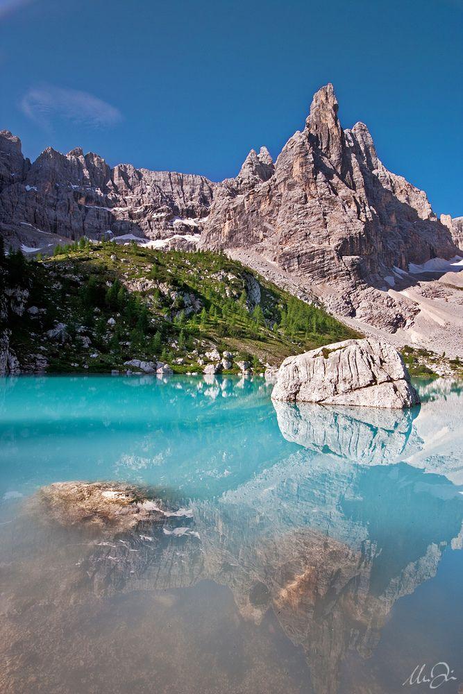 Lake Sorapiss, Dolomites, Belluno,Veneto, Italy
