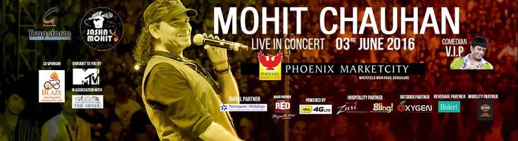 #Bengaluru this #Saturday  is going to be a Jashn, as #Mohit Chauhan is all set to mesmerise you with his melodies!  Book tix now: