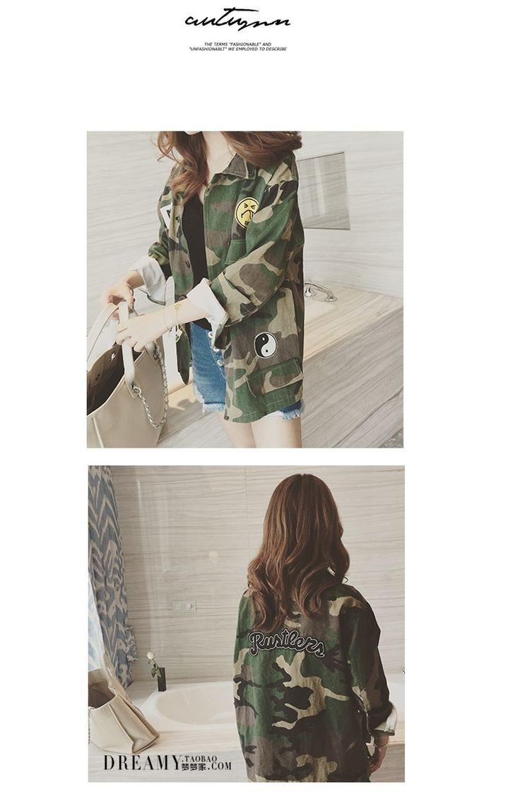 2016 Fashion Camouflage Military Jacket Women Denim Camo Jackets jaqueta feminina Army Green Coats   http://www.dealofthedaytips.com/products/2016-fashion-camouflage-military-jacket-women-denim-camo-jackets-jaqueta-feminina-army-green-coats/