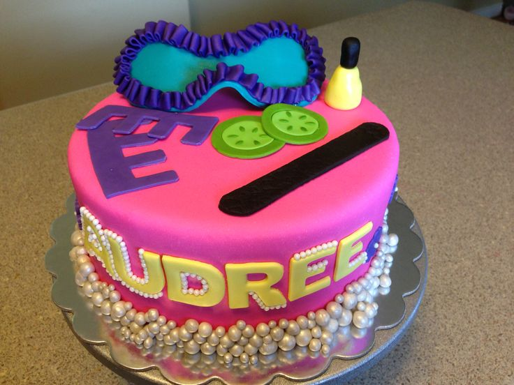 Spa Cake Birthday Party Ideas