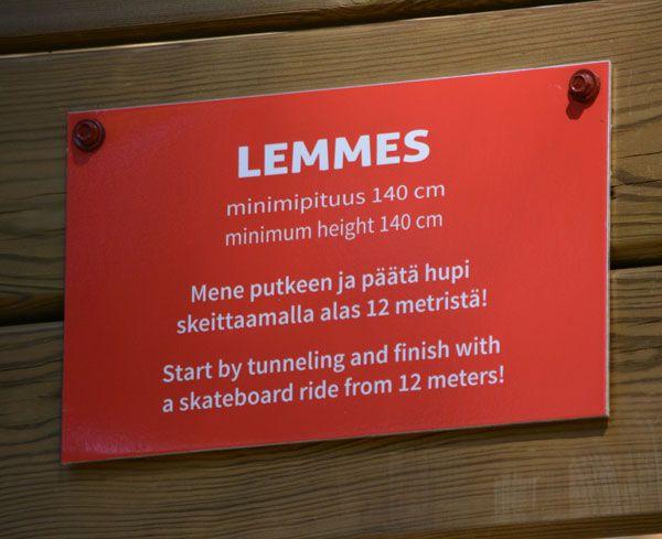 Seikkailupuisto Huipun punainen rata Lemmes